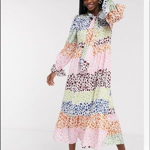 Never fully dressed ASOS spotted colorful dress